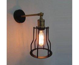 Industriell Edison Vägglampa Järn