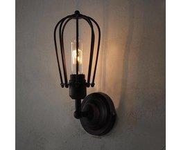 Vintage vägglampa för glödlampor