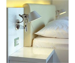 Lätt Justerbar Aluminium Vägglampa Med Switch