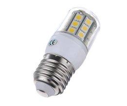 E27 5050 SMD LED-lampa med varmt vitt ljus (20 stycken)