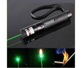 Laserpekare 5MW med grönt laserljus och fokusbränning.