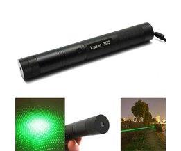 Justerbar grön laser 303