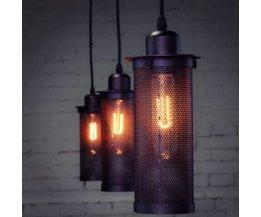 Metall industriella lampor