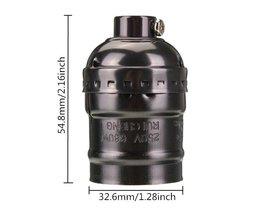 E27 Edison Retro Lamphållare