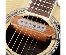 Trä pickup för akustiska gitarrer