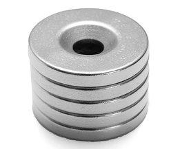 Kraftfulla magneter med hål