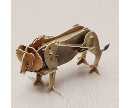 Hoppas vinnande leksaker Vind-3D-lejonpussel