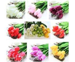 Konstgjorda blommor tulpan 10 stycken