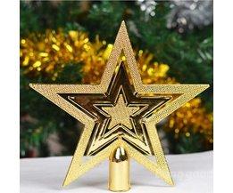 5 stycken julstjärna topp