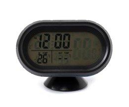 Digital klocka för bil med temperaturvisning och voltmeter