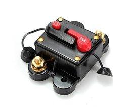 Strömbrytare med återställningsknapp för video och ljudsystem