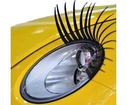 Ögonfransar för bil strålkastare 3D White 2 Pieces