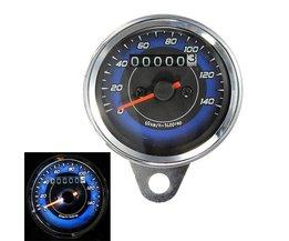 Kilometermätare och hastighetsmätare fordon