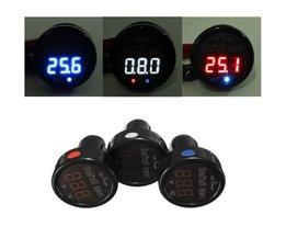 3In1 LED Termometer Voltmeter och USB Laddare