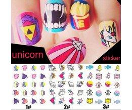 Nail Art Stickers med olika mönster