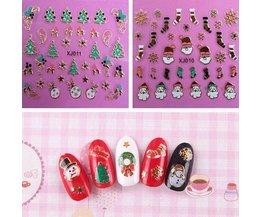 Nail Art Stickers för jul