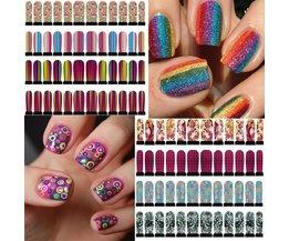 Färgglada Nail Art Stickers