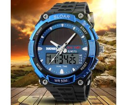 SKMEI 1049 Watch Solar Powered LED Analog och Digital