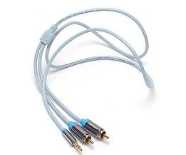 Aggregat AUX-kabel till 2RCA 1M