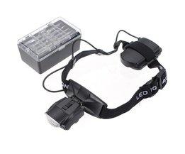 Loupe glasögon med 5 objektiv och ett huvudband