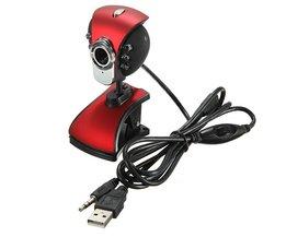 Stor webbkamera med nattvision 6LED