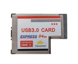 ExpressCard 54MM med 2 USB-portar