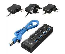 USB 3.0-hubb med fyra portar