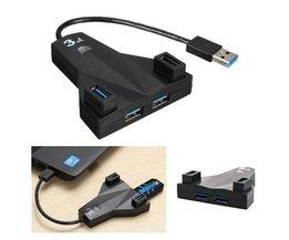 Kompakt 4-port USB 3.0-hubb