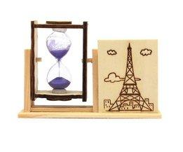 Trä timglas med pennhållare