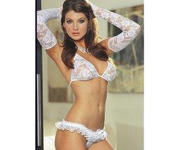 White Lace Underkläder Set