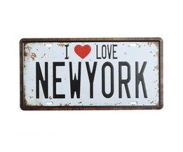 New York Plate Med Jag Älskar New York