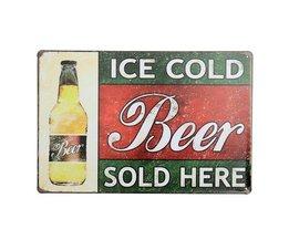 Vintage öl Billboard Metal
