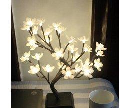 LED lampa träd med blomma
