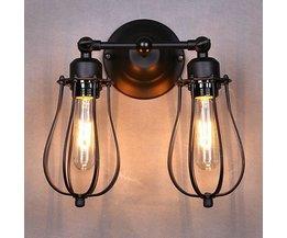 Vintage dubbel lampa för inomhus