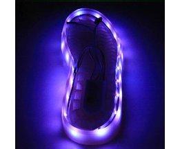 Uppladdningsbart LED-ljus för skor 1M