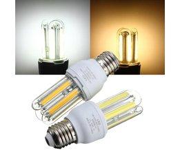 E27 COB lampa med varm vit eller vit ljus