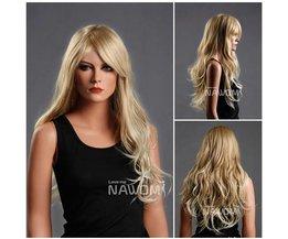 NAWOMI lång blond peruk för kvinnor