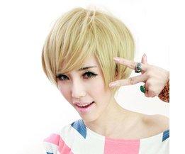 Kort blond peruk