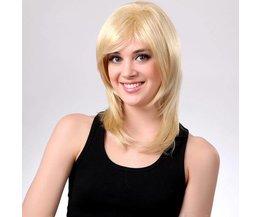 Långblond peruk för kvinnor