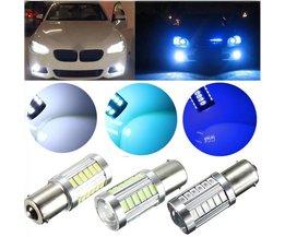LED BA15S 12V för automatisk i flera färger
