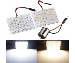 Bilinredning LED-bild med vitt ljus