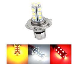 H4 LED för bilen i 3 ljusa färger