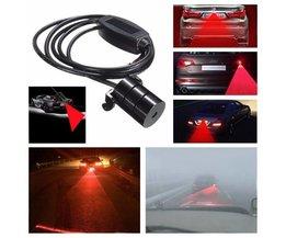 Bakre dimljus för bil (röd laser)