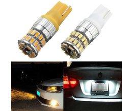 T10 LED billjus i vitt eller gult