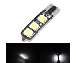 T10 LED Canbus W5W 6SMD 5050 lampa för bil