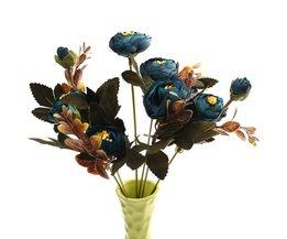 Vackert färgglada bukett Silk Konstgjorda Blommor