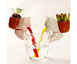 Vattenabsorberande blomkrukdjur i form