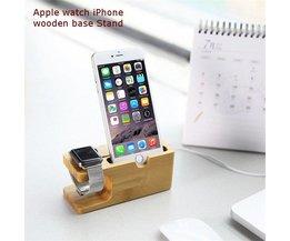 Trä Dockningsstation för Apple Watch och IPhone