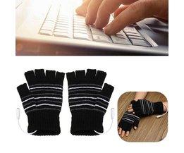 USB Handskar Half Fingers