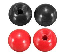 Bulletknopp för tassar eller maskiner i rött eller svart